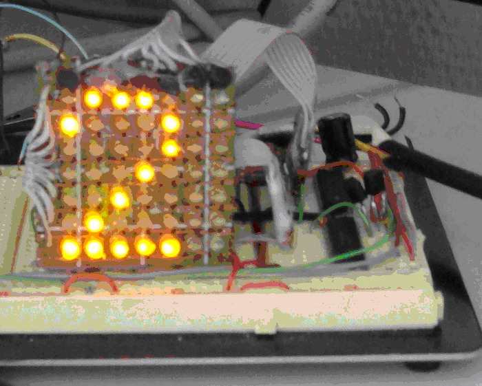 на светодиодную матрицу.